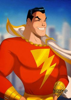 Captain Marvel, aka Shazam, in fine art, by Des Taylor.