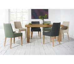 Alex Upholstered Dining Chair With Oak Legs