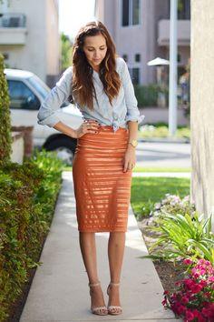 DIY: pencil skirt