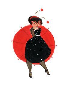 LadyBugs Ameladybug Fine Art Print by CaseyRobinArt on Etsy