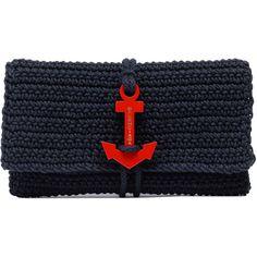 ahoy, balenciaga crochet anchor clutch