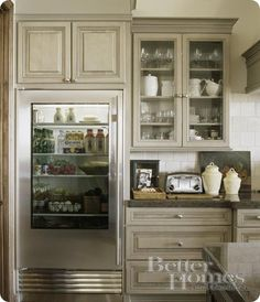 Glass front fridge!!!! My kids might not open it a thousand times a day...MAYBE!! I love the look!!!!
