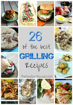 Drag out the grill! These 26 grilling recipes are the best of the best! Sauce Recipes, Cooking Recipes, Healthy Recipes, Grill Recipes, Hamburger Recipes, Cooking Time, Summer Grilling Recipes, Summer Recipes, Healthy Grilling