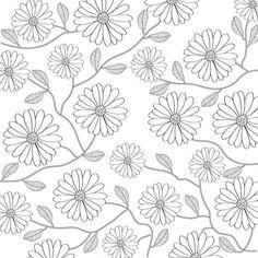 Fondo floral en blanco y negro Vector Gratis