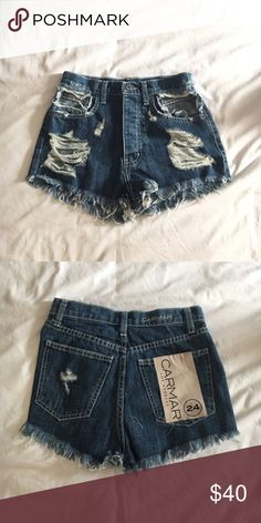 NWT LF/CARMAR Dark Wash Denim Shorts Size 24 Brand new! Excellent condition. Same ones as I previously listed and were sold but unfortunately never sent out. I had misplaced them while I was in process of moving but can assure there will be no issues from here on out LF Shorts