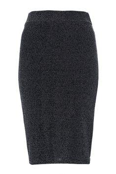 Black And Silver Brillo Midi Skirt
