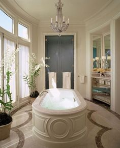 My dream bathroom. Master bath at a French City Apartment Dream Bathrooms, Beautiful Bathrooms, Boffi, Residential Interior Design, Bathroom Inspiration, Interiores Design, Master Bathroom, Bathroom Bath, Bath Tub