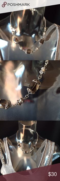 Brighton Night Mist Smoky Quartz Short Necklace Excellent condition.  I find no issues.  Add to a bundle for discount. Brighton Jewelry Necklaces