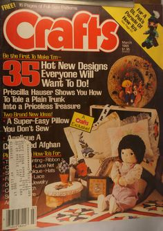 https://flic.kr/p/v4Hxr9 | Crafts March 1985 | $6.00 each plus Shipping.