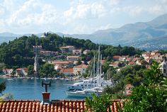 One of two harbors.  Cavtat, Croatia