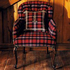 Ralph Lauren Home #Indian_Cove Collection 14 - Matching tartan armchair and pillow