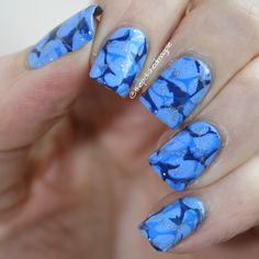 #whencolourscollide - tone on tone (blue) #blue #nailart #nailstamping