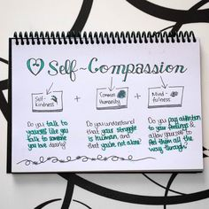 "Marinda Jansen on Instagram: ""Self-compassion is a skillset. #SketchnoteYourGrowth smudgedsymmetry.com/self-compassion"" Self-compassion is a skillset. #SketchnoteYourGrowth #doodle #lettering #sketchnotes"