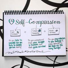 Self-compassion is a skillset. #SketchnoteYourGrowth #doodle #lettering #sketchnotes