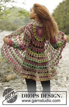 Fall Festival Jacket By DROPS Design - Free Crochet Pattern - (garnstudio)