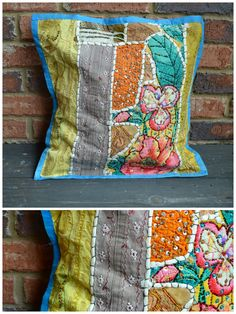Handmade Large Vintage Pillow Sham from India #4