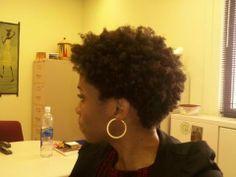natural hair tapered cut