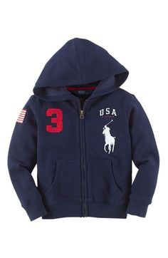 Ralph Lauren 'Atlantic' Hoodie (Toddler Boys) available at #Nordstrom