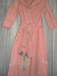 SALE Vintage Chenille Robe, 1940s Chenille Robe, Small Childs Robe, Two Listings Each Sold Seperate. $24.00, via Etsy.