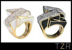 David Webb's Art Deco cocktail rings. Breathtaking!