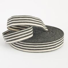 8 yards Black and white striped french by LostPropertyHongKong