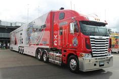 This is a really long double trailer truck Custom & is Truly COOL! Love trucks.LL :)
