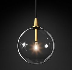 Glass Globe Mobile Pendant