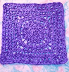 May 1st: Free SmoothFox's Amethyst Square 12x12 by Donna Mason-Svara free crochet pattern on Ravelry at http://www.ravelry.com/patterns/library/free-smoothfoxs-amethyst-square-12x12
