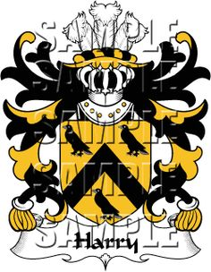 Harry Family Crest apparel, Harry Coat of Arms gifts