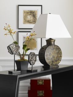 Our Crossroads table lamp is shedding light on Eastern style.