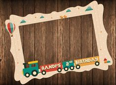 Vintage train party DIGITAL FILE birthday party by IRMdesgn