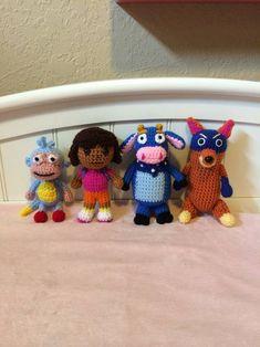 Dora the Explorer crochet set - CROCHET 86a6070634b9