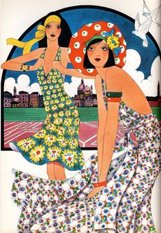 Illustration by Caroline Smith, July 1972, Harpers and Queen.