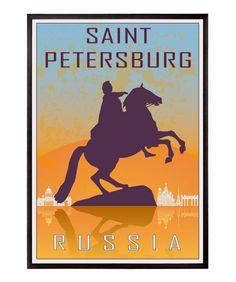 Saint Petersburg vintage style poster