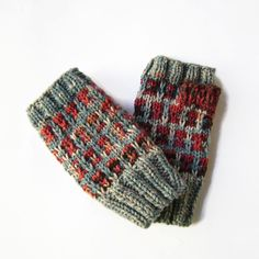 Hand Knit Winter Fingerless Mittens Wrist Warmers, Hand Warmers, Fingerless Gloves Knitted, Crochet Flowers, Hand Knitting, Snug, Gifts For Her, Winter, Handmade