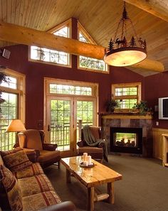 cabin living room,the nicest cabins are spartan looking, not too crowded in a small pace, but give a feeling of order and peace.