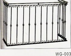 balcony railings wrought iron made to order by bmc. Black Bedroom Furniture Sets. Home Design Ideas