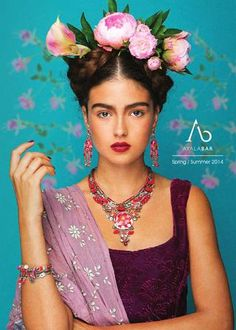 This lovely tribute to Frida Kahlo features jewelry by artist Ayala Bar. Visit the Blanton Museum Shop to see some of her newest pieces! Mexican Fashion, Mexican Style, Costume Frida Kahlo, Karneval Diy, Fridah Kahlo, Looks Adidas, Halloween Karneval, Photographie Portrait Inspiration, Ayala Bar