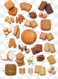 Different types of biscuits Sweet Cookies, Biscuit Cookies, Cake Cookies, Japanese Cookies, Japanese Sweets, Biscuits, Cake Packaging, Chocolates, Cookie Box