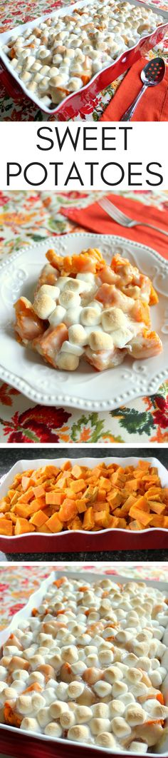 I love how these sweet potatoes are prepared. Cutting into chunks and not mashed, gives the potatoes a bit of extra texture. The sweet sauce poured on top is amazing! Of course, I had to top with a bit more marshmallows. This will be an impressive side dish at your holiday gathering.