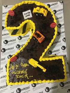 İnşaat temalı Doğumgünü pastası
