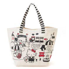 Sanrio Original Hello Kitty Eco Canvas Bag Tote Bag New Women Bag GKHK082 #SanrioJapan