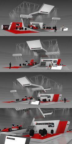 Bridgestone exhibition stand on Behance