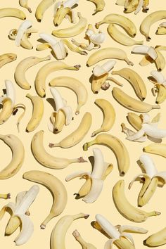 Unity is achieved through the variation of half peeled bs whole bananas. The color palette is narrow and the repetition of shape and color contributes to the unity of the whole.