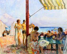 The Athenaeum - The Bar at the Beach (Henri Lebasque - )