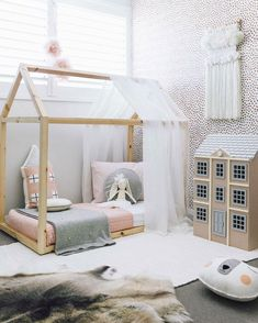 Home Sweet Home Montessori Bed Frame For Kids House Beds For Kids, Kid Beds, Baby Room Design, Baby Room Decor, Diy Kids Room, Kids Diy, House Frame Bed, Montessori Bed, Little Girl Rooms