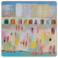 Brighton beach painting by Kathryn matthews available at Two Kats and a Cow