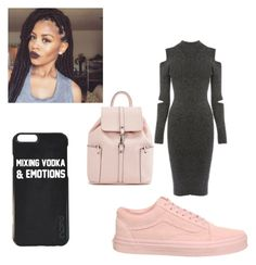 """Untitled #10"" by jayda-yancy ❤ liked on Polyvore featuring Warehouse and Vans"