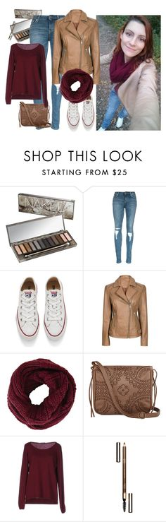 """#me walking in the wood"" by sanglierspore on Polyvore featuring Urban Decay, Converse, BCBGMAXAZRIA, T-shirt & Jeans, Fred Perry, Clarins, women's clothing, women's fashion, women and female"