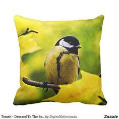 Tomtit - Dressed To The Season Throw Pillow